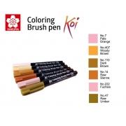 Caneta Pincel Koi Coloring Brush Sakura C/6 Set Tan Hues