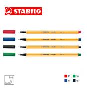 Caneta Stabilo Point 88 0,4 Kit C/4 Az/Vm/Pt/Vd