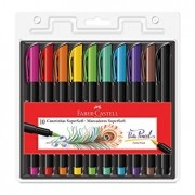 Canetinha Supersoft Brush Pen Faber-Castell 10 Cores