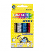 Cola Glitter caixa com 4 Cores Acrilex