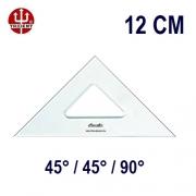 Esquadro Sem Escala 2512 45°/45°/90° 12cm Trident