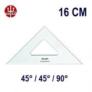 Esquadro Sem Escala 2516 45°/45°/90° 16cm Trident