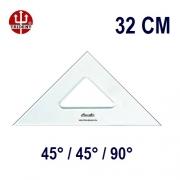 Esquadro Sem Escala 2532 45°/45°/90° 32cm Trident