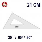 Esquadro Sem Escala 2621 30°/60°/90° 21cm Trident