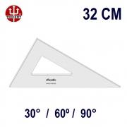 Esquadro Sem Escala 2632 30°/60°/90° 32cm Trident