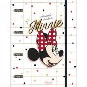 Fichário Minnie Cartonado com Elástico 80 Folhas 245mmx315mm Tilibra