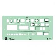 Gabarito Arquitetura - Sanitários Mod. A-7 Trident