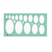 Gabarito Desenho - Elipses Mod. D-4 Trident