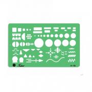 Gabarito Eletro Eletrônica - Eletricidade - Mod. E-13 - Trident