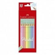 Lapis de Cor 10 Cores Pastel Faber-Castell Ecolápis