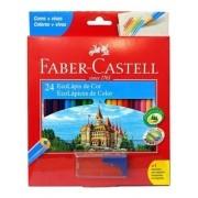 Lapis De Cor 24 Cores Faber-Castell Ecolápis