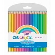 Lápis de Cor 24 Cores Pastel Criatic Cis