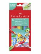 Lapis de Cor Aquarelável 12 Cores Faber-Castell Ecolápis
