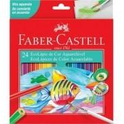 Lapis de Cor Aquarelável 24 Cores Faber-Castell Ecolápis