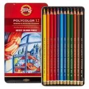 Lápis De Cor Artístico Polycolor 12 Cores Koh-i-Noor 3822