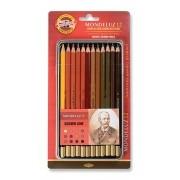 Lápis Profissional Polycolor C/12 Tons Marrom Koh-i-Noor