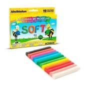 Massa para Modelar Soft Acrilex 12 cores 180g