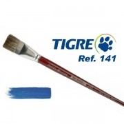 Pincel Chato Ref. 141 Pelo Marta Tropical Tigre Unidade