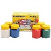 Tinta Guache 6 cores com 15ml cada Acrilex