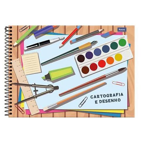 Caderno de Desenho e Cartografia Capa Dura 96fls 275mmx200mm Foroni