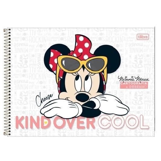 Caderno de Desenho e Cartografia Minnie Capa Dura 80fls 275mmx200mm Tilibra