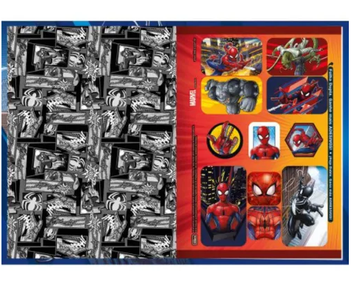 Caderno Homem Aranha Brochurão costurado 80fls. Tilibra 200mmx275mm
