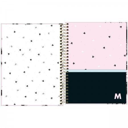Caderno Minnie 10 Matérias espiral Capa Dura Colegial 160 Fls. 177mmx240mm