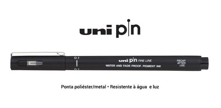 Caneta Nanquim Uni Pin Fine Line