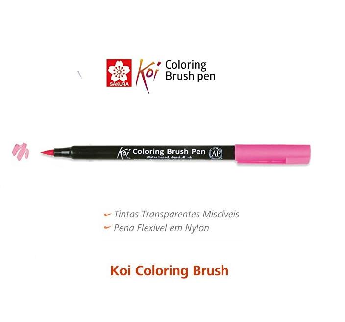 Caneta Ponta Pincel Coloring Brush Pen Koi Sakura Unidade