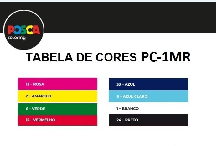Caneta Posca PC-1MR 0.7mm Uni Posca