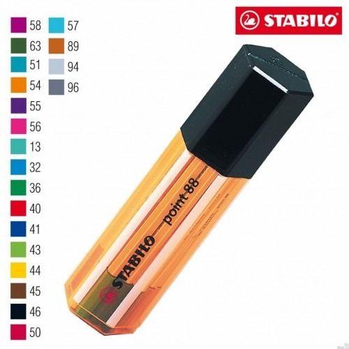 Caneta Stabilo Point 88 0.4 Estojo Tubo C/20 Cores
