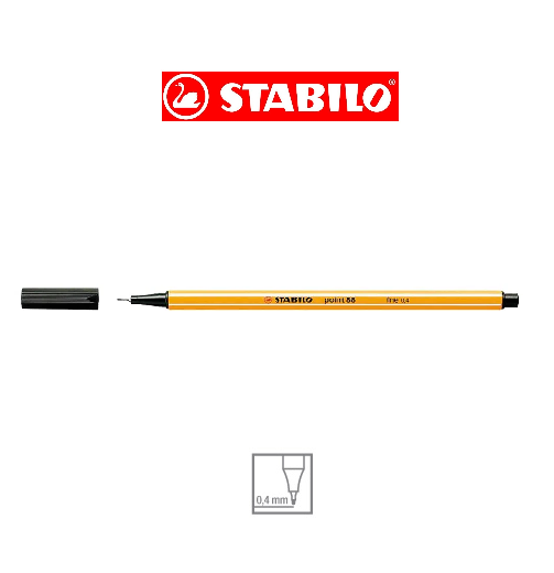 Caneta Stabilo Point 88 0,4 extra fina