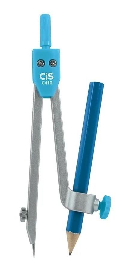 Compasso Metálico Cis C410 + 1 Lápis