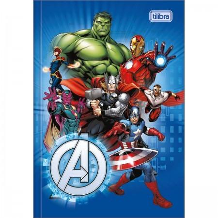 Caderno Avengers Vingadores Brochura 1/4 costurado 80fls. Tilibra 140mmx200mm