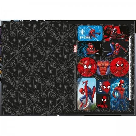 Caderno Homem Aranha Brochura 1/4 costurado 80fls. Tilibra 140mmx200mm