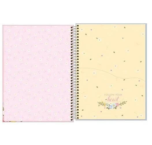 Caderno Jolie 10 Matérias espiral Capa Dura Universitário 160 Fls. 200mmx275mm