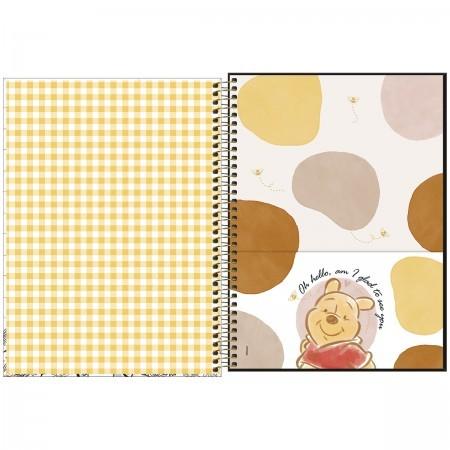 Caderno Pooh 10 Matérias espiral Capa Dura Universitário 160 Fls. 200mmx275mm