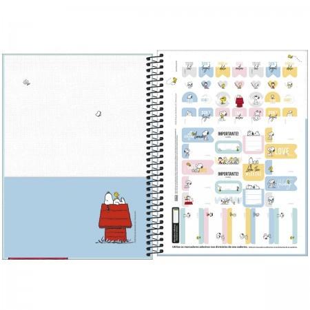 Caderno Snoopy 10 Matérias espiral Capa Dura Universitário 160 Fls. 200mmx275mm