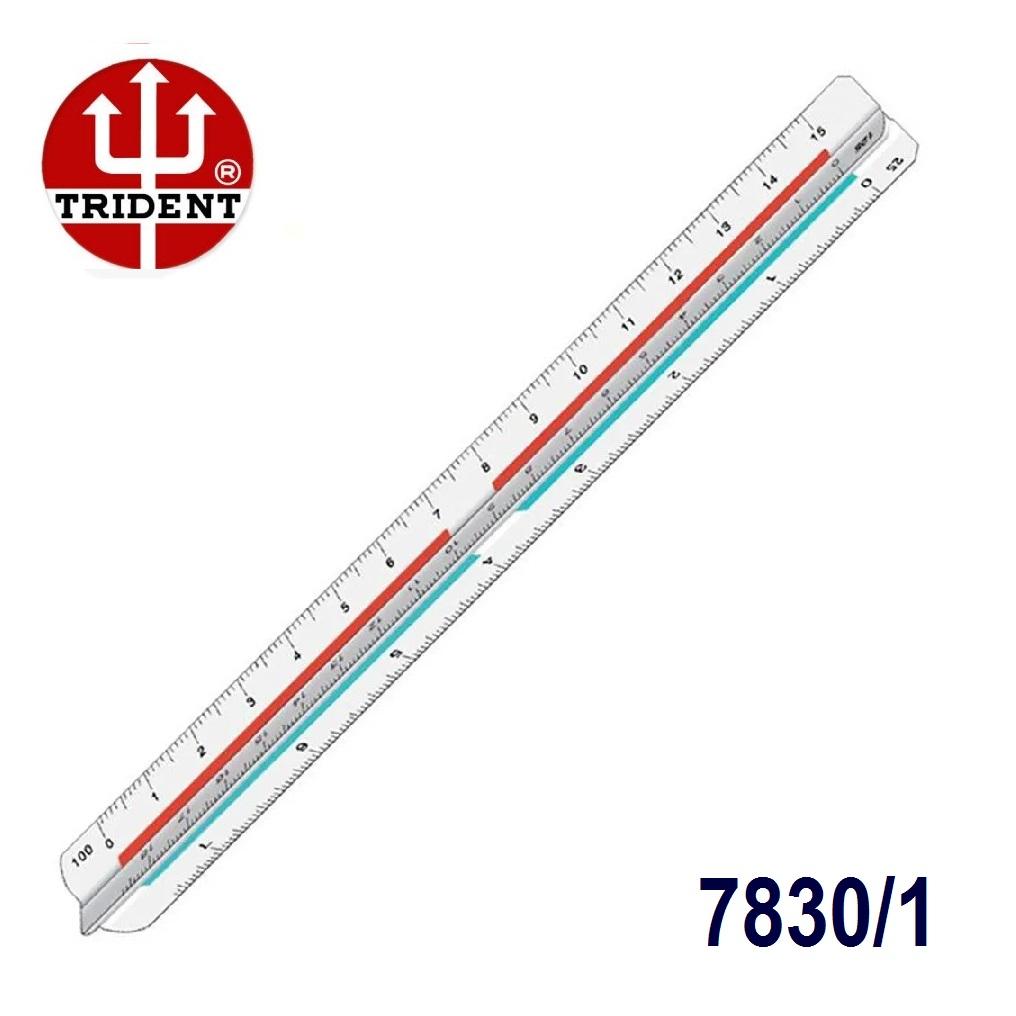 Escalímetro Triangular 7830/1 Trident 30cm