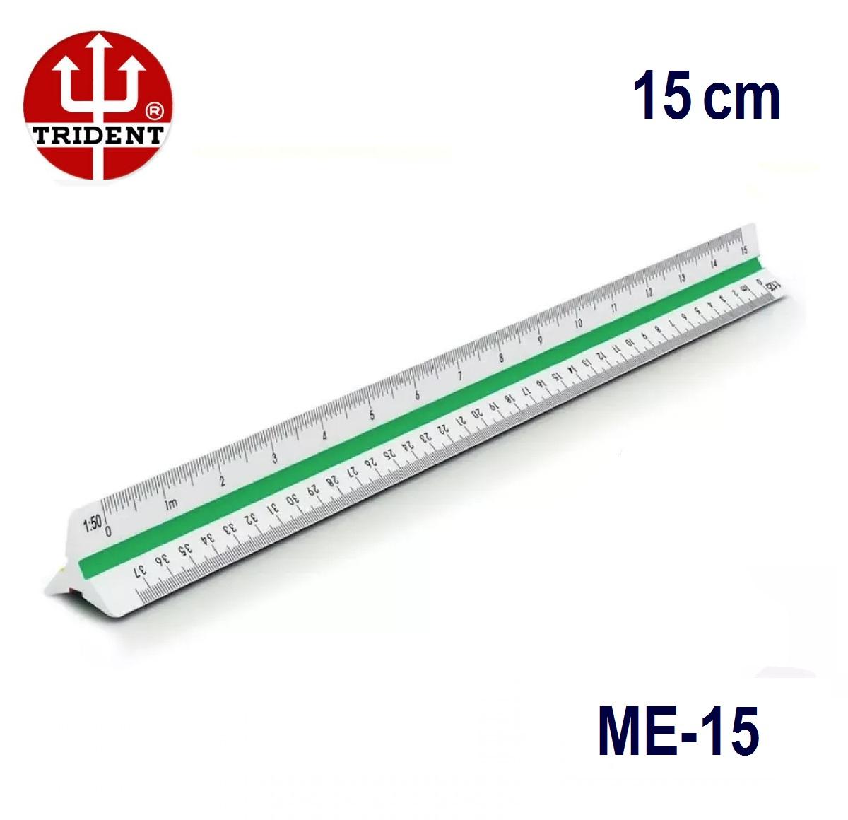 Escalímetro Triangular ME-15 Trident 15cm