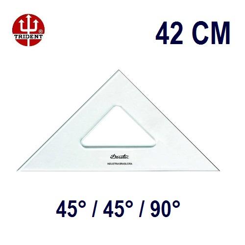 Esquadro Sem Escala 2542 45°/45°/90° 42cm Trident