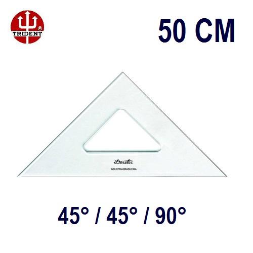 Esquadro Sem Escala 2550 45°/45°/90° 50cm Trident