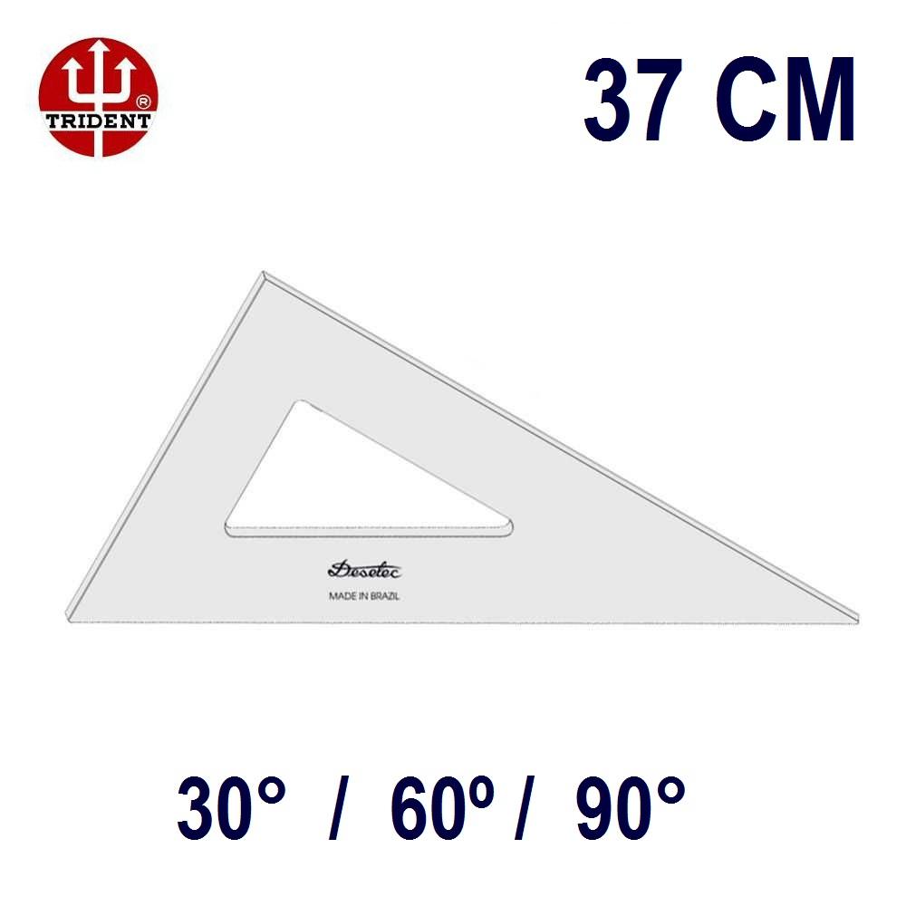 Esquadro Sem Escala 2637 30°/60°/90° 37cm Trident