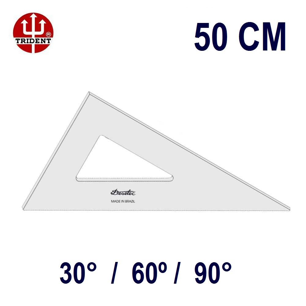 Esquadro Sem Escala 2650 30°/60°/90° 50cm Trident
