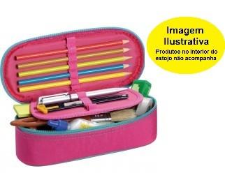 Estojo KP Fluor Mix Rosa Foroni 210mmx60mmx90mm