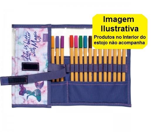 Estojo Rolinho Sereia Life Foroni 405mmx205mm