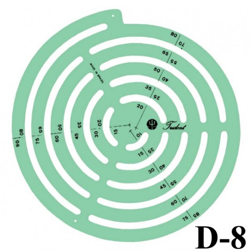 Gabarito Desenho - Raios Mod. D-8 - Trident