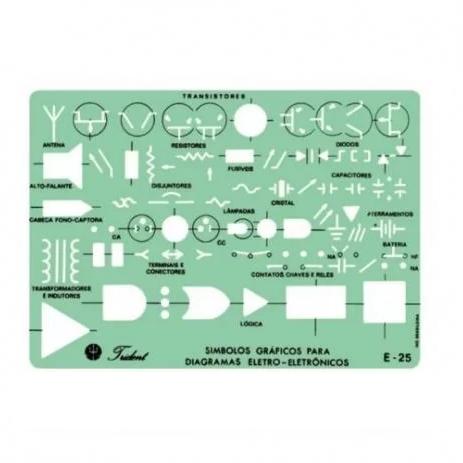 Gabarito Eletro Eletrônica Mod. E-25 - Trident
