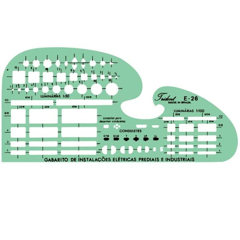 Gabarito Eletro Eletrônica Mod. E-26 - Trident