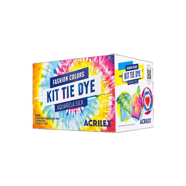 Kit Tie Dye Acrilex - 5 Fashion Colors 1 Stencil 1 Acrilpen